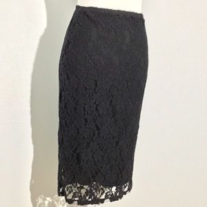 Lace stretch pencil skirt